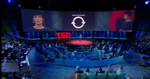 Dame Ellen MacArthur talking at TED