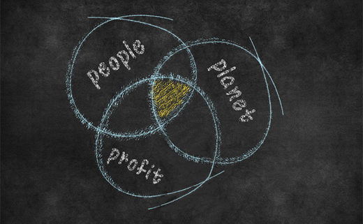 People, planet and profit overlapping
