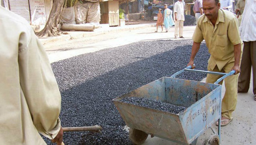 Introducing India's 'plastic roads' • MBA Polymers