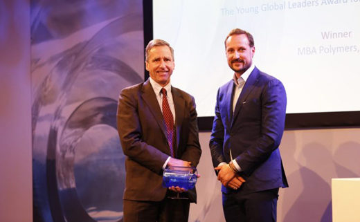 Mike Biddle and HRH Prince Haakon
